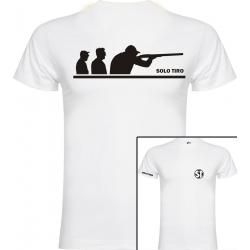 Camiseta de Manga Corta Grupo Tiradores Blanca ST