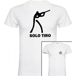 Camiseta de Manga Corta Tirador Blanca ST