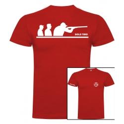 Camiseta de Manga Corta Grupo Tiradores Roja ST