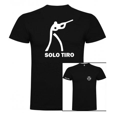 Camiseta de Manga Corta Tirador Negra ST