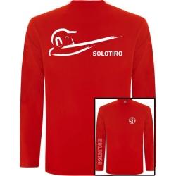 Camiseta Manga Larga Busto Roja