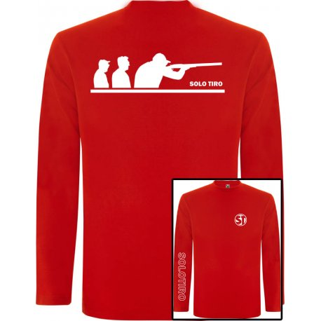Camiseta Manga Larga G. Tiradores Roja