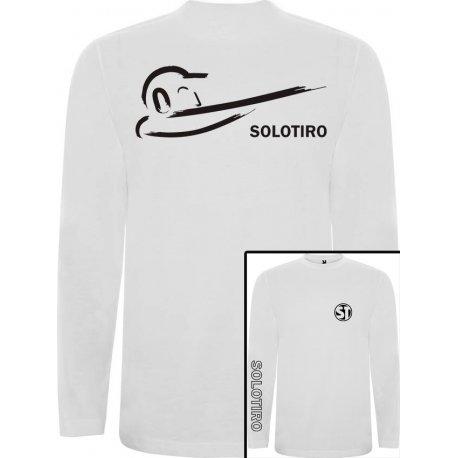Camiseta Manga Larga Busto Blanca