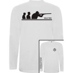 Camiseta Manga Larga G. Tiradores Blanca