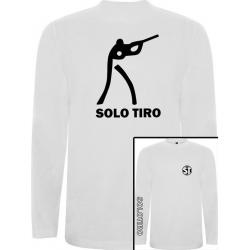 Camiseta Manga Larga Tirador Blanca