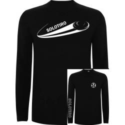 Camiseta Manga Larga Plato Negra