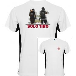 Camiseta Tokyo Dual Shooter Blanca/Negra