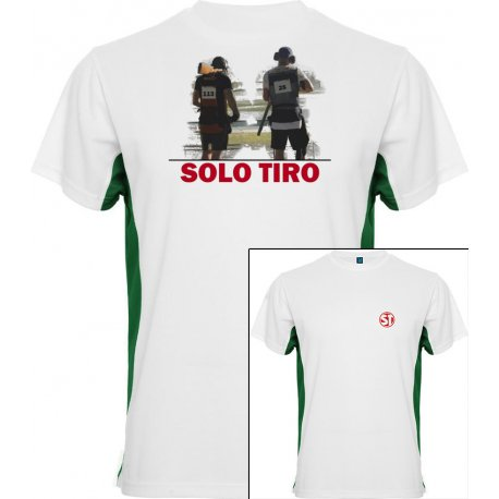 Camiseta Tokyo Trap Shooting Blanca/Verde