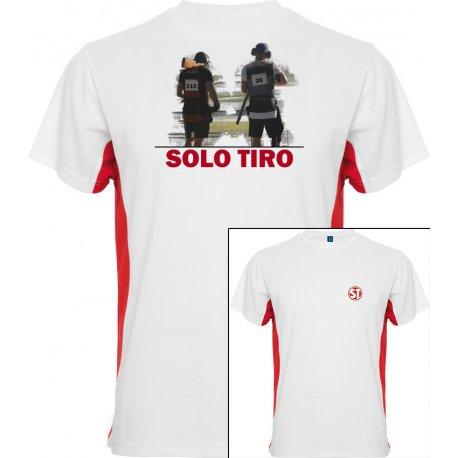 Camiseta Tokyo Dual Shooter Blanca/Roja