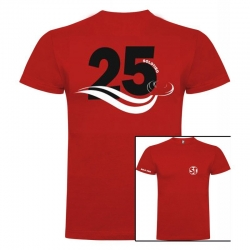 Camiseta de Manga Corta 25 Roja ST