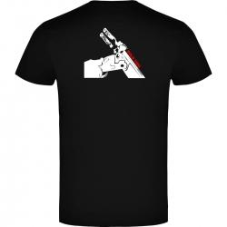 Camiseta de Manga Corta Báscula Negra