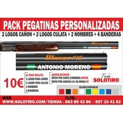 Pack Pegatinas para escopeta